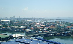 Aerial view of Navotas