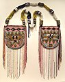 Necklace (Odigba Ileke Ifa), 1900s, Guinea Coast, Nigeria, Yoruba people, cloth, glass beads, cardboard, wood - Cleveland Museum of Art - DSC08755.JPG
