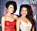 Neha Kakkar and Sonu Kakkar at Global Indian Music Academy Awards.jpg