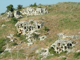 Necropolis in Italy