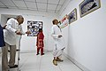 Nemai Ghosh Accompanied By Biswatosh Sengupta Visiting 1st Four Ps Group Exhibition - Kolkata 2019-04-17 5251.JPG