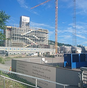 Munch Museum - Construction site of the Munch Museum at Bjørvika, June 2017
