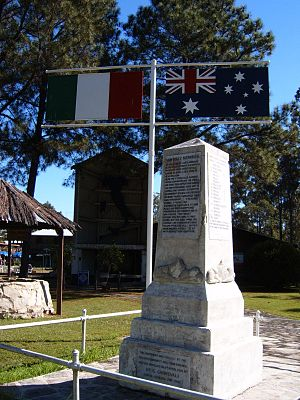 Italian Australians - New Italy memorial (list of family names)