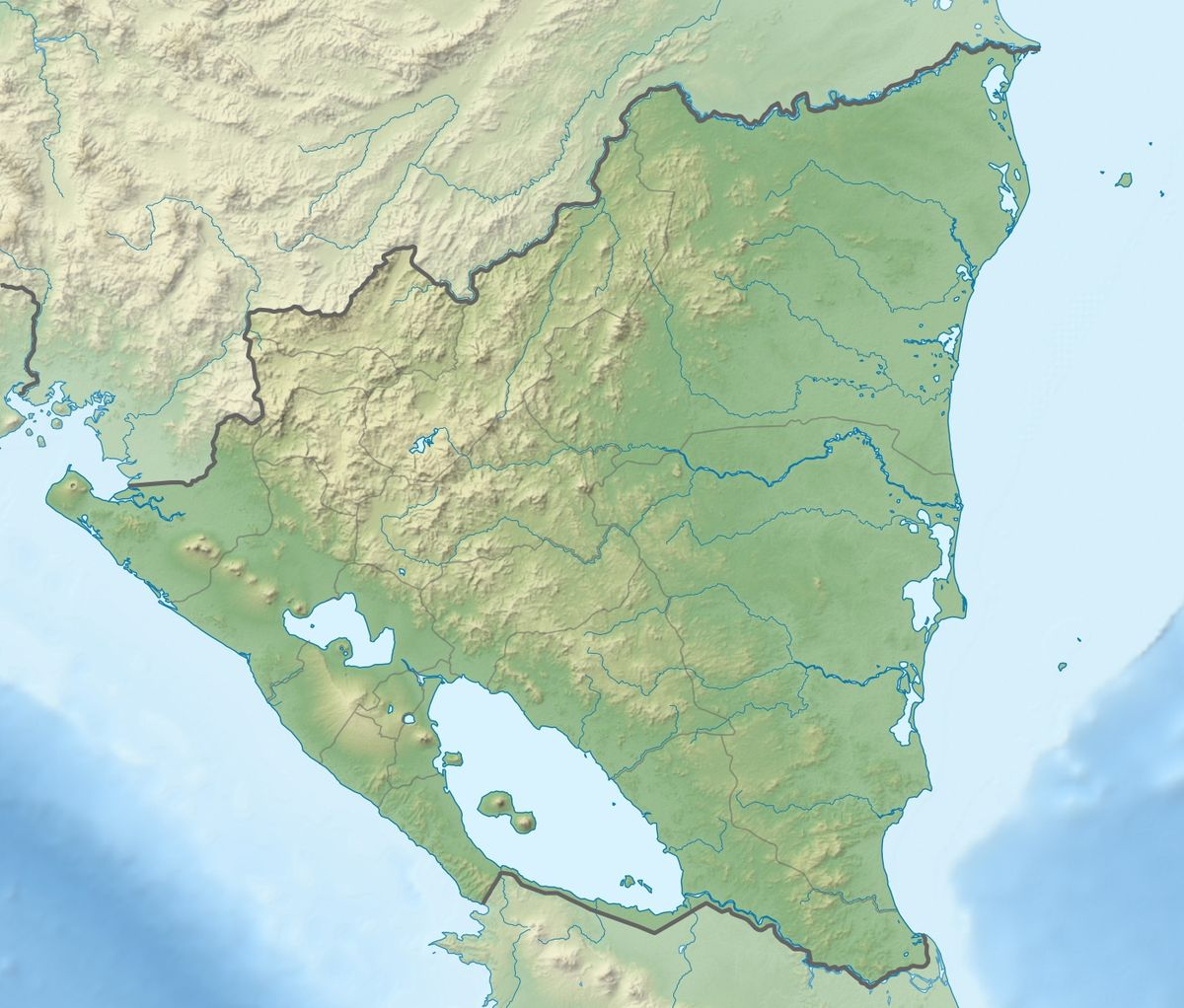 Mogotón Wikipedia - Nicaragua location on world map