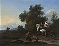 Nicolaes Berchem - Landscape with an Elegant Hunting Party on a Stag Hunt.jpg