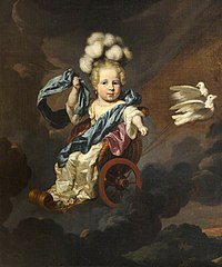 A Child as Venus in a Chariot Drawn by Doves