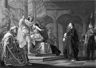 Paulus the Apostle defending himself at the Trial in Caesarea