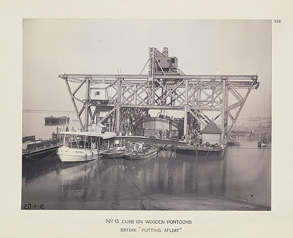 The construction of Hardinge Bridge in Eastern Bengal and Assam, 1912