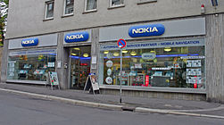 A Nokia shop in Würzburg, Germany.