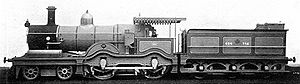 Egyptian National Railways - 4-4-0 locomotive number 694: one of a class of 15 built by the North British Locomotive Company in Scotland for Egyptian State Railways in 1905-06