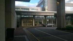 Px North Carolina Neurosciences Hospital Entrance on Health Promotion