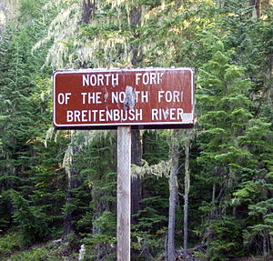 Breitenbush River - Image: North Fork of the North Fork Breitenbush River— sign