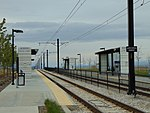 Northeast at South Jordan Parkway station platforms, Apr 16.jpg