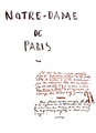 Notre Dame de Paris Victor Hugo Manuscrit détouré 1.png