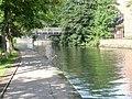 Nottingham Canal - Footbridge and Heron - geograph.org.uk - 948406.jpg