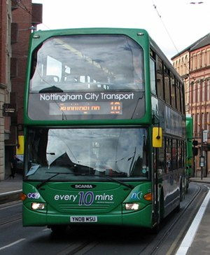 Nottingham City Transport - Scania OmniDekka in June 2011