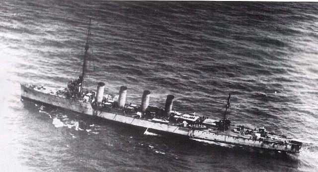 SMS Novara damaged
