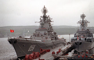 Kirov-class battlecruiser - Admiral Ushakov (ex-Kirov), lead ship of the class.