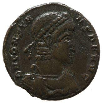 Constans - Image: Nummus of Constans (YORYM 2001 11574) obverse