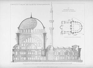 Nuruosmaniye Mosque - Image: Nuruosmaniye Mosque Gurlitt 1912