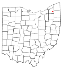 Location of Middlefield, Ohio