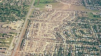 Del City, Oklahoma - Aerial view of Del City after the tornado