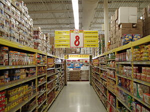 Inside the Oak Ridges No Frills store.