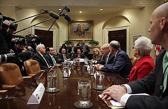 American Health Care Act of 2017 - Trump discussing with lawmakers on replacing the ACA at the White House, March 2017.