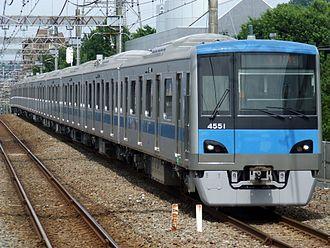 Odakyū Tama Line - An Odakyu 4000 series EMU on the Tama Line in July 2007