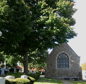 Mystic River Jewish Communities Project - Temple Ohabei Shalom Cemetery chapel