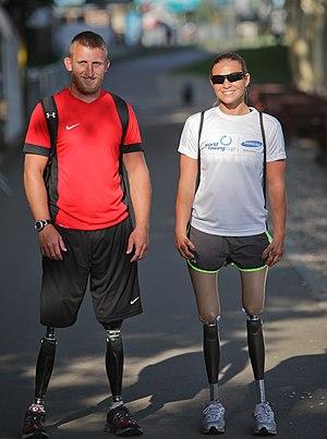 Oksana Masters - Rob Jones and Oksana Masters at the 2012 Adaptive World Championships in Belgrade, Serbia