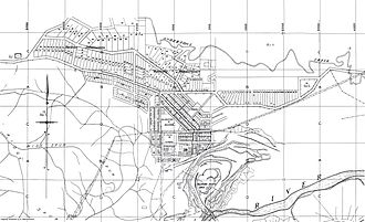Yallourn North, Victoria - The map layout of the Brown Coal Mine before the Big Slip in 1950