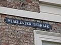 Old sign for Winchester Terrace, NE4 - geograph.org.uk - 1892089.jpg