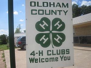4-H - 4-H emblem in Oldham County in Vega west of Amarillo, Texas