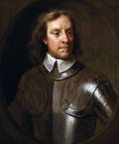 Oliver Cromwell, Lord Protector of the Commonwealth of England, Scotland, and Ireland Oliver Cromwell by Samuel Cooper.jpg