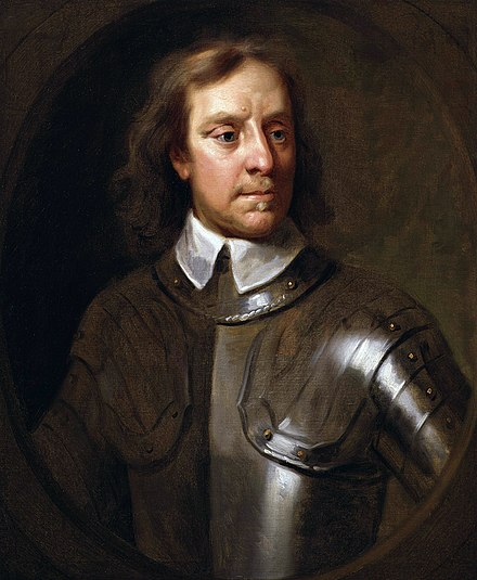 Oliver Cromwell landed in Ireland in 1649 to re-conquer the country on behalf of the English Parliament. He left in 1650, having taken eastern and southern Ireland - passing his command to Henry Ireton. Oliver Cromwell by Samuel Cooper.jpg