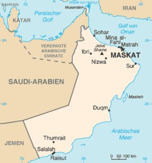 Energy in Oman - Image: Oman map de