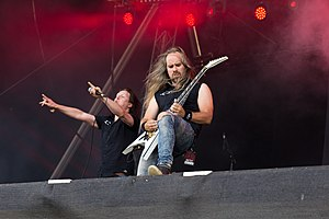 Omnium Gatherum - Singer Jukka Pelkonen and Guitarist Markus Vanhala at Rockharz 2016