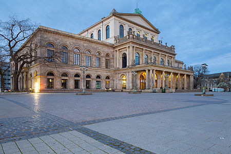 Opera house and Opernplatz square located at --Alchemist-hp (talk) 23:19, 2 July 2015 (UTC)Georgsstrasse in Mitte quarter of Hannover, Germany.
