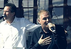 Co-fondateurs Andy McCluskey et Paul Humphreys en 2011