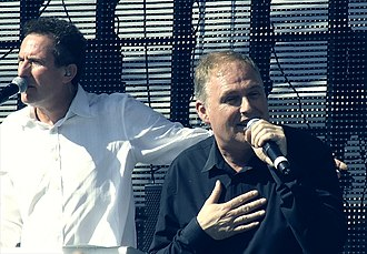 Orchestral Manoeuvres in the Dark - Co-founders Andy McCluskey and Paul Humphreys in 2011