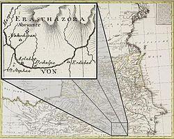 Ордубад (Erdubad) на карте 1802 года