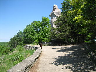Lowden State Park - Lorado Taft's sculpture The Eternal Indian.