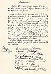 The original hand-written Act of Independence of Lithuania