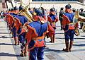 Orkiestra mongolskiej armii na placu Suche Batora w Ułan Bator 11.JPG