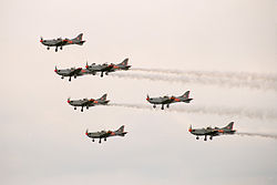 Orlik Aerobatic Team, fly-by, Radom AirShow 2005, Poland.jpg