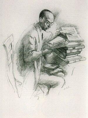Klabund - Emil Orlik: The poet Klabund, Lithography from 1915