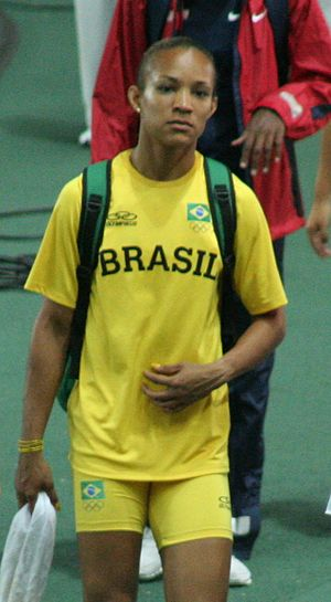 Track and field at the 2011 Military World Games - Keila Costa won medals in the long jump and triple jump for Brazil.