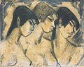 Otto Mueller - Drei Mädchen im Profil - ca1918.jpeg