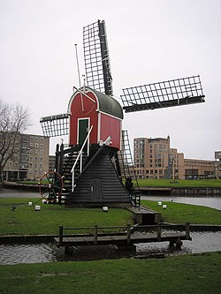 Wind mill Oudenhofmolen in Oegstgeest
